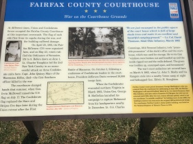 Civil War descriptions from the sight at the Fairfax County Courthouse