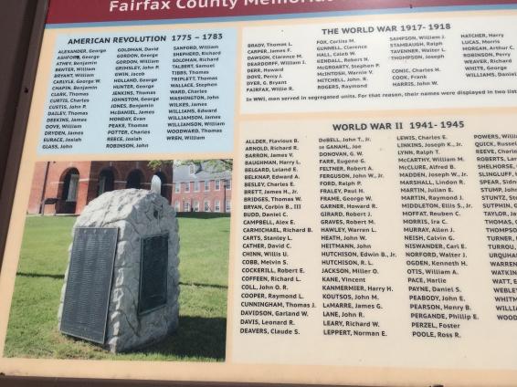 War Memorial at Fairfax Court House, Virginia