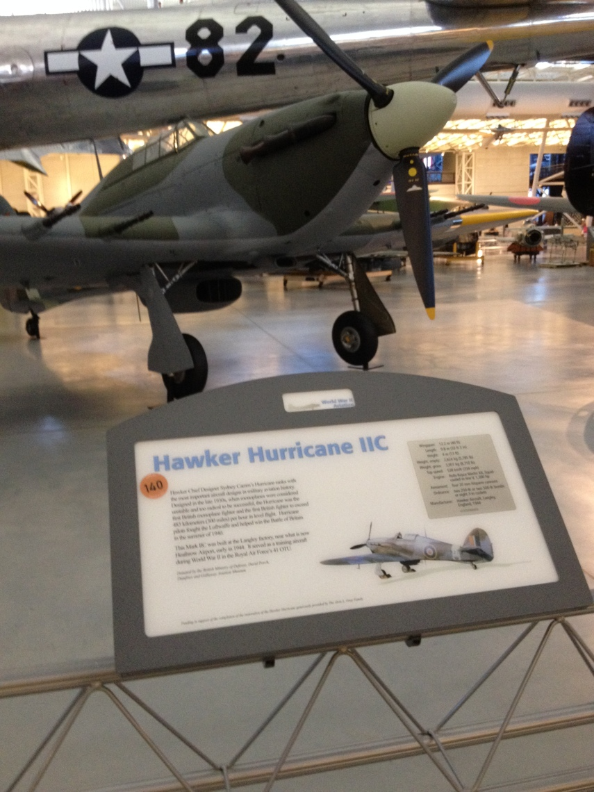 Hawker Hurricane IIC Designed in the late thirties at Langley factory, now the Heathrow Airport in 1944. Hurricane pilots helped fight the Luftwaffe in the Battle of Britain