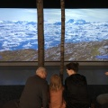 A big screen with videos from the Nordic countries, hereGreenland
