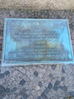 A memorial plaque for the lost WWII Allied Airmen