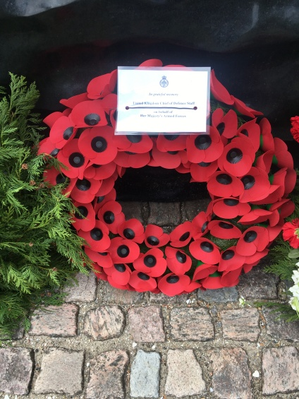 A wreath from The United Kingdom Chief of Defence Staff