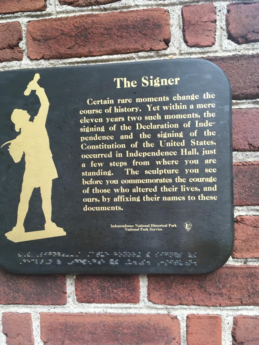 """The Signer"" in Philadelphia."