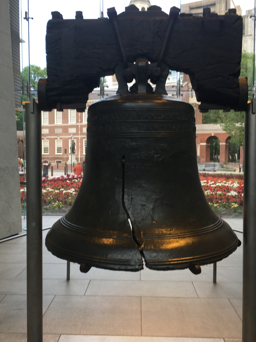 The Liberty Bell at Philadelphia Visitor centre.