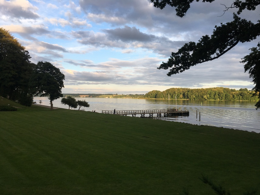 Kolding Fjord (fiord) at the end of the garden