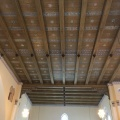The wooden roof of thechurch