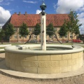 A Fountain on the square in front of the former House for thebrethren