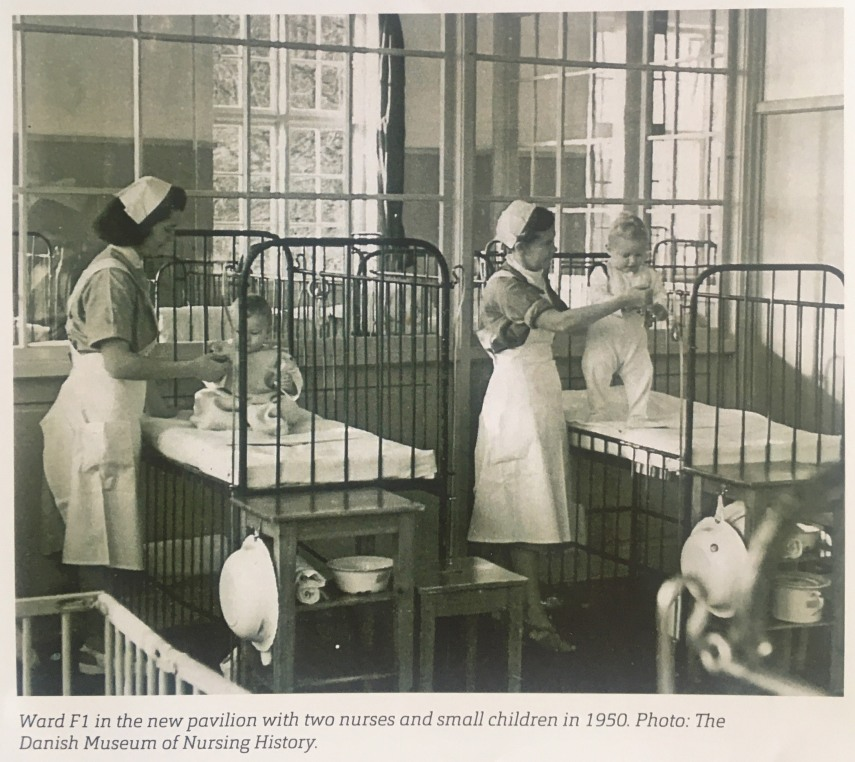 The ward for the smallest patients at Kolding Fjord Sanatorium. Photo Danish Museum of Nursing History