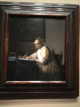 Johannes Vermeer, Dutch (1632-1675). A Lady Writing c. 1660