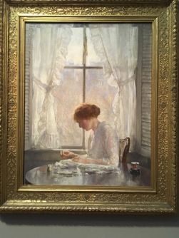 The Seamstress by Joseph Rodefer deCamp, American, 1858-1923